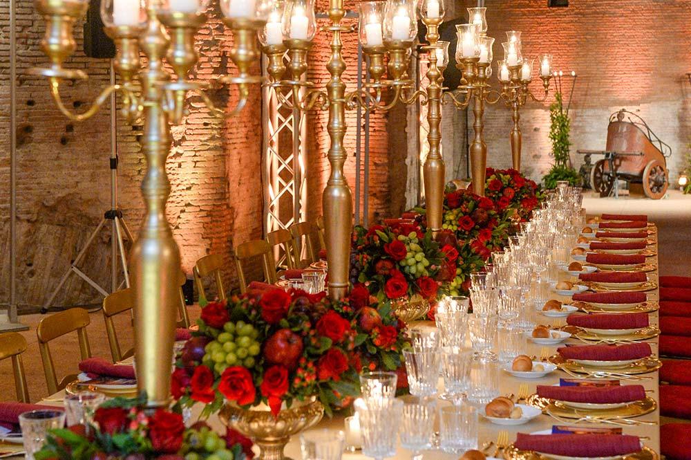 Composizione Floreale Tavolo Natale